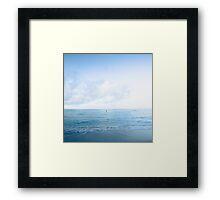 calm day ver.blue Framed Print