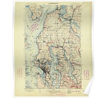 USGS Topo Map Washington State WA Seattle 243639 1897 125000 Poster