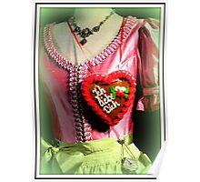 Ich liebe Dich Herzl Poster