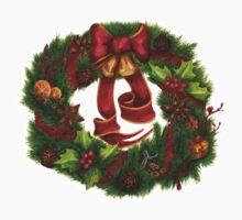 Christmas wreath. Art nouveau. One Piece - Long Sleeve