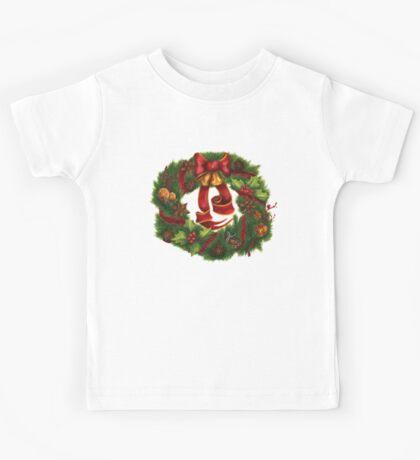 Christmas wreath. Art nouveau. Kids Tee