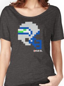 Tecmo Bowl - Seattle Seahawks - 8-bit - Mini Helmet shirt Women's Relaxed Fit T-Shirt