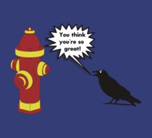 Crow Vs Fire Hydrant by KaliBlack