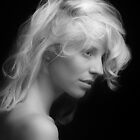 B&W Portrait In Black And White by Von McKnelly