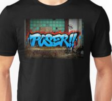 Poser Graffiti At Packard Plant In Detroit Unisex T-Shirt