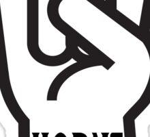 Horns Up Sticker