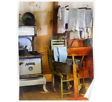 Laundry Drying in Kitchen Poster