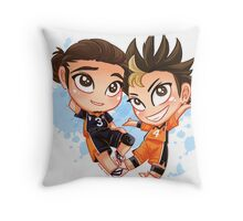 Chibi Time! Asahi & Nishinoya Throw Pillow