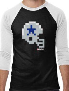 Tecmo Bowl - Dallas - 8-bit - Mini Helmet shirt Men's Baseball ¾ T-Shirt