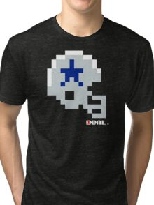 Tecmo Bowl - Dallas Cowboys - 8-bit - Mini Helmet shirt Tri-blend T-Shirt