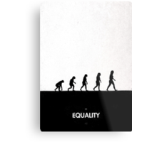 99 Steps of Progress - Equality Metal Print
