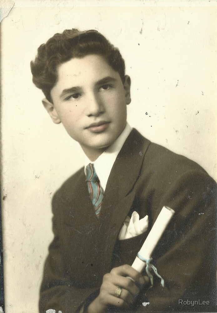 My Dad's H.S. Graduation Portrait by RobynLee