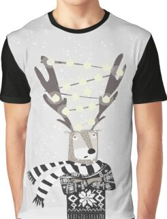 Christmas Bright Reindeer  Graphic T-Shirt