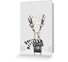 Christmas Bright Reindeer  Greeting Card