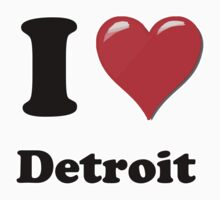 I Heart / Love Detroit by HighDesign