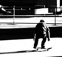 Skater in BW by stevefinn77