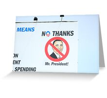 CHANGE PRESIDENTS WOULD BE OK Greeting Card