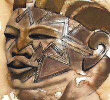 Makonde Helmut Head by Marsha Hallet
