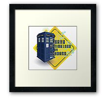 Doctor Who Tardis - Baby Timelord on Board Framed Print