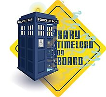 Doctor Who Tardis - Baby Timelord on Board Photographic Print