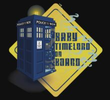 Doctor Who Tardis - Baby Timelord on Board One Piece - Short Sleeve
