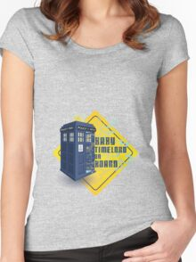 Doctor Who Tardis - Baby Timelord on Board Women's Fitted Scoop T-Shirt