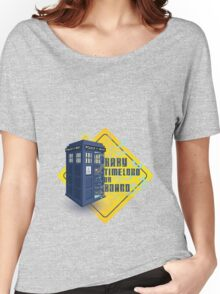 Doctor Who Tardis - Baby Timelord on Board Women's Relaxed Fit T-Shirt
