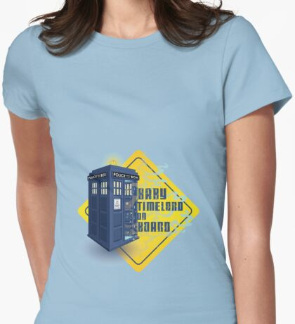 Doctor Who Tardis - Baby Timelord on Board Womens Fitted T-Shirt