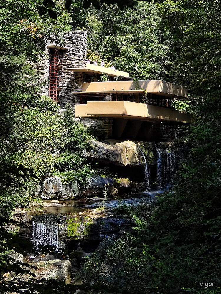 Falling Water by Frank Lloyd Wright by vigor
