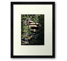 Falling Water by Frank Lloyd Wright Framed Print