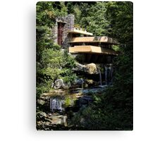 Falling Water by Frank Lloyd Wright Canvas Print