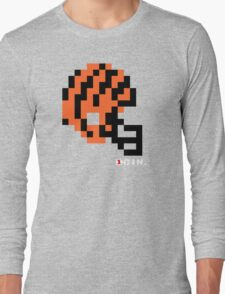 Tecmo Bowl - Cincinnati Bengals - 8-bit - Mini Helmet shirt Long Sleeve T-Shirt