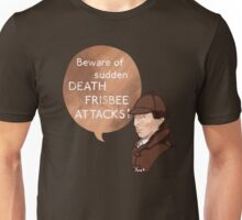 Beware of Death Frisbee Unisex T-Shirt