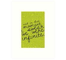 We Were Infinite - Quotes Art Print