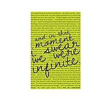 We Were Infinite - Quotes Photographic Print