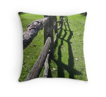 The Old Rugged Fence Throw Pillow