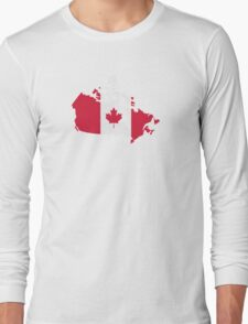 Canada map flag Long Sleeve T-Shirt