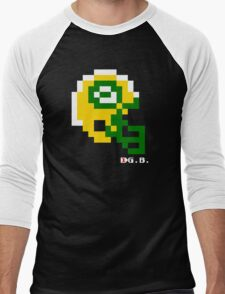 Tecmo Bowl - Green Bay - 8-bit - Mini Helmet shirt Men's Baseball ¾ T-Shirt