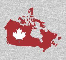 Canada map maple leaf Kids Tee