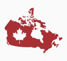 Canada map maple leaf by Designzz