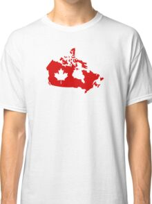Canada map maple leaf Classic T-Shirt
