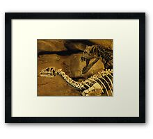 WHEN YOU STICK YOUR NECK OUT.. Framed Print