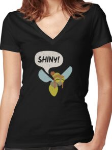 Shiny! Women's Fitted V-Neck T-Shirt