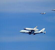 Shuttle Endeavour Piggy Back Flight Home by DARRIN ALDRIDGE