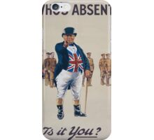 Whos absentIs it you 683 iPhone Case/Skin