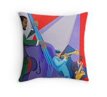 Purple Bass Throw Pillow