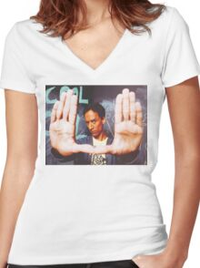 Abed Women's Fitted V-Neck T-Shirt
