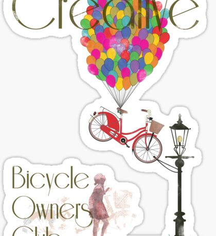 Creative Bicycle Owners Club Sticker