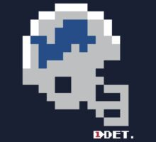 Tecmo Bowl - Detroit - 8-bit - Mini Helmet shirt Kids Tee