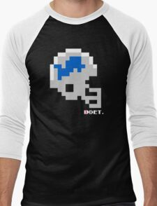 Tecmo Bowl - Detroit - 8-bit - Mini Helmet shirt Men's Baseball ¾ T-Shirt